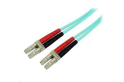 StarTech A50FBLCLC1 10 Gb Aqua MM Fiber Patch Cable LC/LC - 1m
