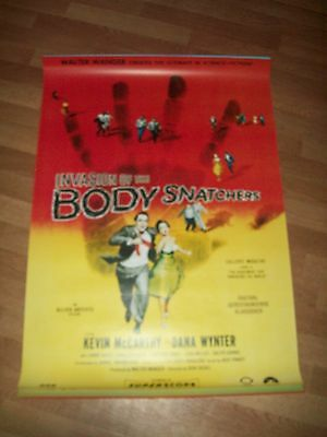 Invasion of the body snatchers movie poster re-release one sheet rare