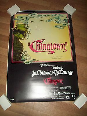 Chinatown movie poster re-release one sheet rare
