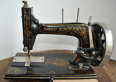 Rare Robina (Hengstenberg Anker) Hand Cranked Sewing Machine & A Booklet