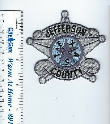 Jefferson County TX Texas Sheriff Dept. star-shaped badge-style patch - NEW!