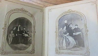 1864 Photo album with 50 original Photos - Abraham Lincoln Family / Grant Family