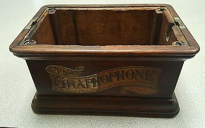 Vintage Columbia Graphophone type AZ case cabinet base phonograph