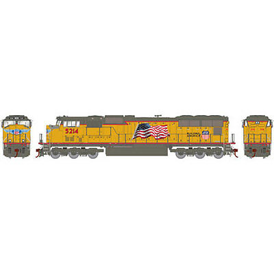 Athearn ATHG69342 HO SD70M w/DCC & Sound, UP/Flag #5214