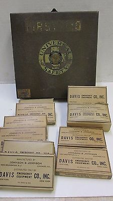 Vintage PA Power & Light Company First Aid Kit Medical Supply Davis Johnson 1924