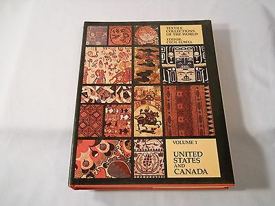 Textile Collections Of The World Cecil Lubell United States And Canade Volume 1