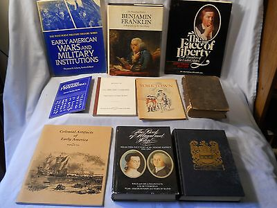Revolutionary War Book Lot , Adams ,washington , Franklin, ,tallmadge, Lot Of 10