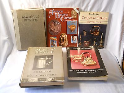 Pewter Brass Copper  Book Lot 5