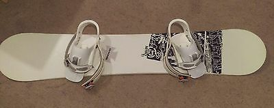 Nitro T1 snowboard with Burton bindings and a bag