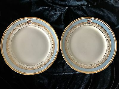 Antique Russian Imperial Porcelain Alexander Ii Plates (2)