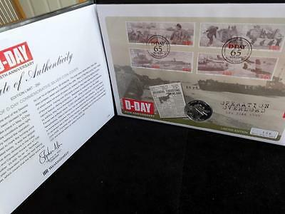 2009 SILVER PROOF JERSEY £5 COIN PNC + COA 65th ANNIVERSARY OF D-DAY  1/250