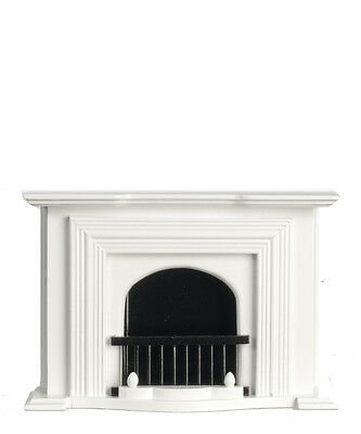 Dollhouse Miniature Fireplace White and Black Minis 1:12 Scale
