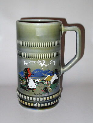 Wade Ireland Stein Mug  20oz Country Scene Girl Cottage Irish Porcelain 6.5""
