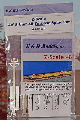Z Scale Z Gauge E&D Models EDM-Z-01 48 foot 5-Unit All Purpose Spine Car kit MIB