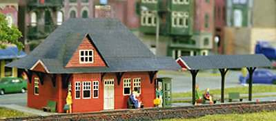 Z Scale Microstructures Kit #Z - 1010 American Train Station Brass kit