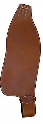 Showman MEDIUM OIL Smooth Leather Replacement Western Saddle Fenders! HORSE TACK