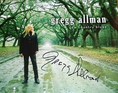 Gregg Allman ~ Autograph Reprint 8 X 10 Very Nice Photo! F4