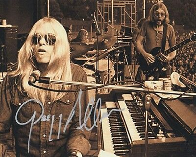 Gregg Allman ~ Autograph Reprint 8 X 10 Very Nice Photo! F5