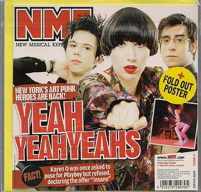 Yeah Yeah Yeahs NME Birthday / Greeting Card +Fold Out Poster 2008 New Sealed UK