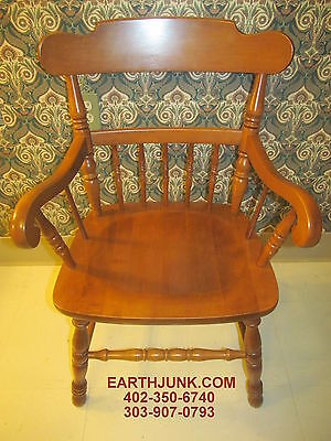 Tell City Chair Company Arm Chair 8057 Hard Rock Maple Andover Finish