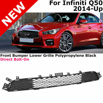 Front Bumper Radiator Grille For Infiniti Q50 14-17 Direct Replacement Bolt-on