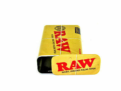 RAW Slide Top Tin Accessory for Papers / Cones NEW Authentic Travel Size Metal
