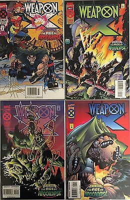 Set of 4: Weapon X Age of Apocalypse # 1 - 2 - 3 - 4 Marvel 1995 VF#