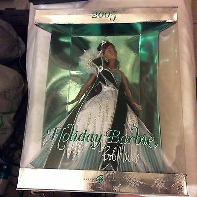 New 2005 Holiday Barbie Bob Mackie African American Doll
