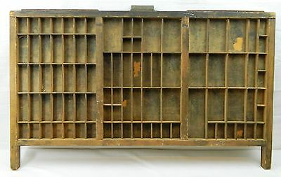 051 Antique Wood Vtg Hamilton Drawer Tray Printers Letter Press 89 Slot Shadow