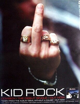KID ROCK 1999 Poster Ad COWBOY devil without a cause