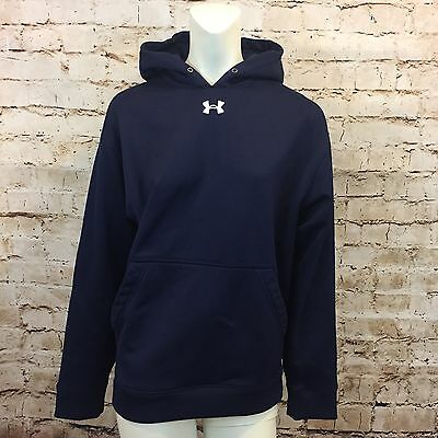 Under Armour Youth Small Navy Blue Pull Over Hoodie Kids Loose
