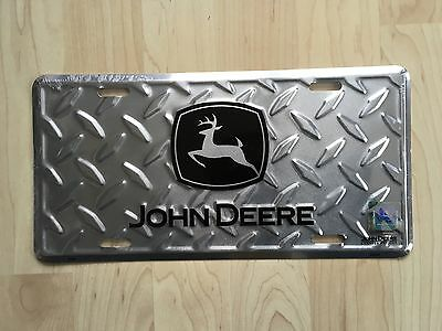 JOHN DEERE  Metal Diamond License Plate