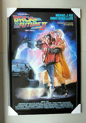 "Back to the future 2 framed POSTER ""Ready to Hang"" BLACK FRAME ""MICHAEL J FOX"""