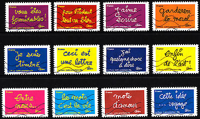 France 2011 Greetings Complete Set of Stamps P Used S/A