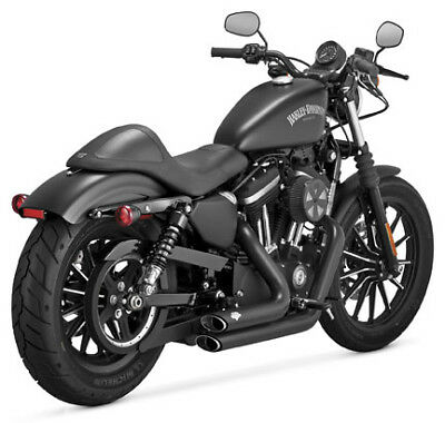 Vance & Hines Shortshots Staggered Black Exhaust For 2014-2017 Harley XL883N