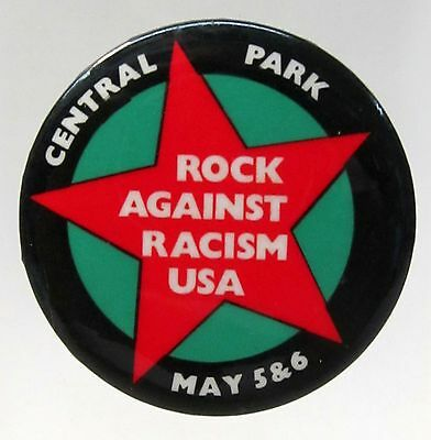 CENTRAL PARK ROCK AGAINST RACISM USA pinback button