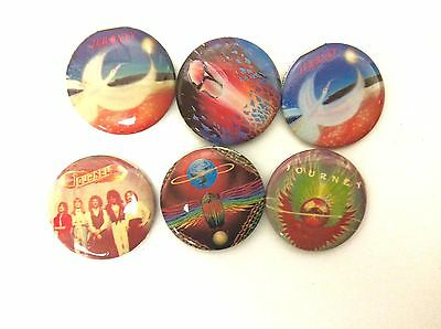 Vintage JOURNEY Pinback Button Set Of 6 Classic Rock Band 1.25 Inch Badge Pin