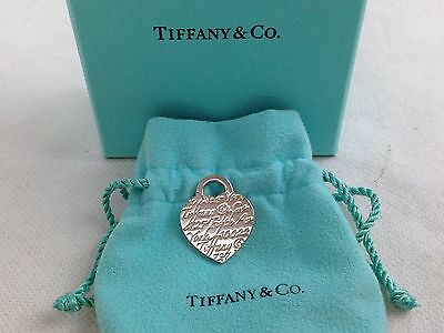 Tiffany & Co. Engravable Heart Tag Sterling Silver 925 Charm Pendant  5J200460p