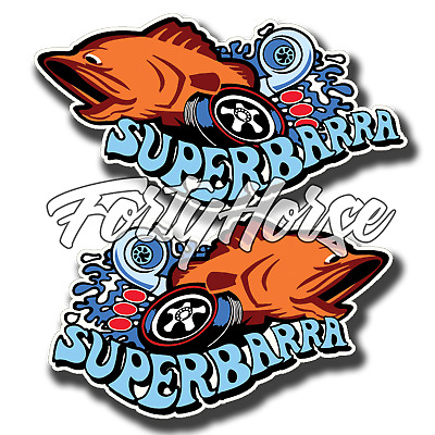 Ford Stickers - Super Barra Turbo Orange - Set of 2