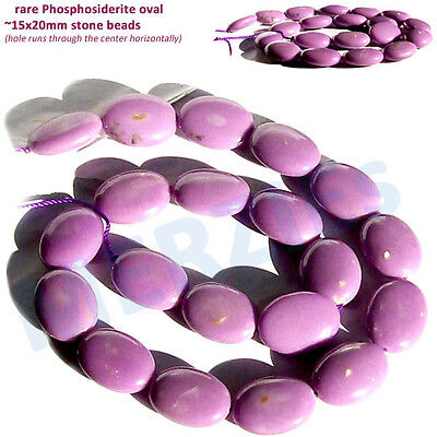MERZIEs rare lilac orchid lavendar PHOSPHOSIDERITE oval FOCAL 15x20mm stone bead