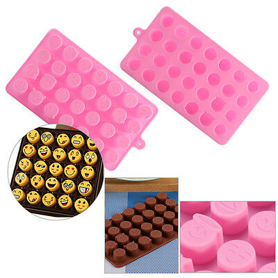 1x/10x DIY Silicone Mould Mold Chocolate Candy Gummy Maker Ice Tray Pink