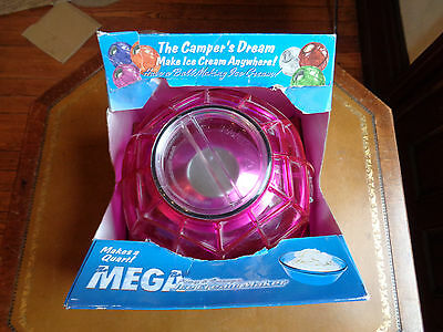 NIB Mega Ball Play Freeze ORIGINAL ICE CREAM MAKER Pink Great for Camping Travel