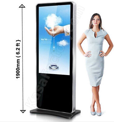"6.2ft Kiosk Display 46"" Full HD Interactive Shopping Advertising Touch Screen"
