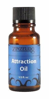 Attraction Oil Zinzeudo Magick Ritual Love Spell Wicca Witch 1/2 oz