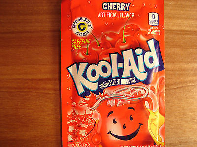 10 Kool Aid Drink Mix CHERRY powdered fresh popsicle flavor summer NEW Vitamin C