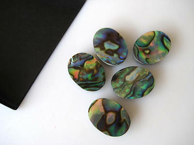 10 Pieces Natural Mother of Pearl Oval Shaped Cabochons Flat Back 10x12mm BB149