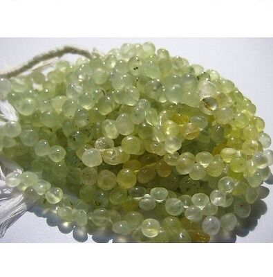 Prehnite Onion Briolette Beads 6.5mm Beads 8 Inches Strand 55 Pieces Approx