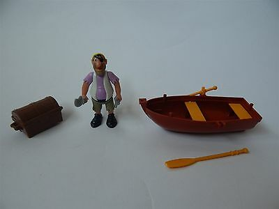 Disney Heroes Peter Pan Pirate Figure, With Boat And Chest, Famosa