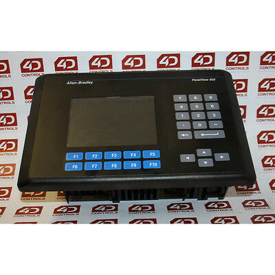 Allen-Bradley 2711-B6C1 PanelView 600 Color Key/Touch/RIO/RS232 - Used - Seri...