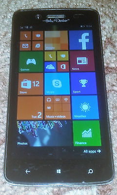 "NGM Harley-Davidson Dual Sim Smartphone 5"" Screen Windows 8.1 Black FREE UK POST"